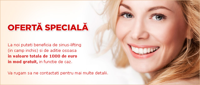 oferta speciala implant dentar